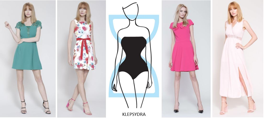 Sukienka dla figury klepsydra