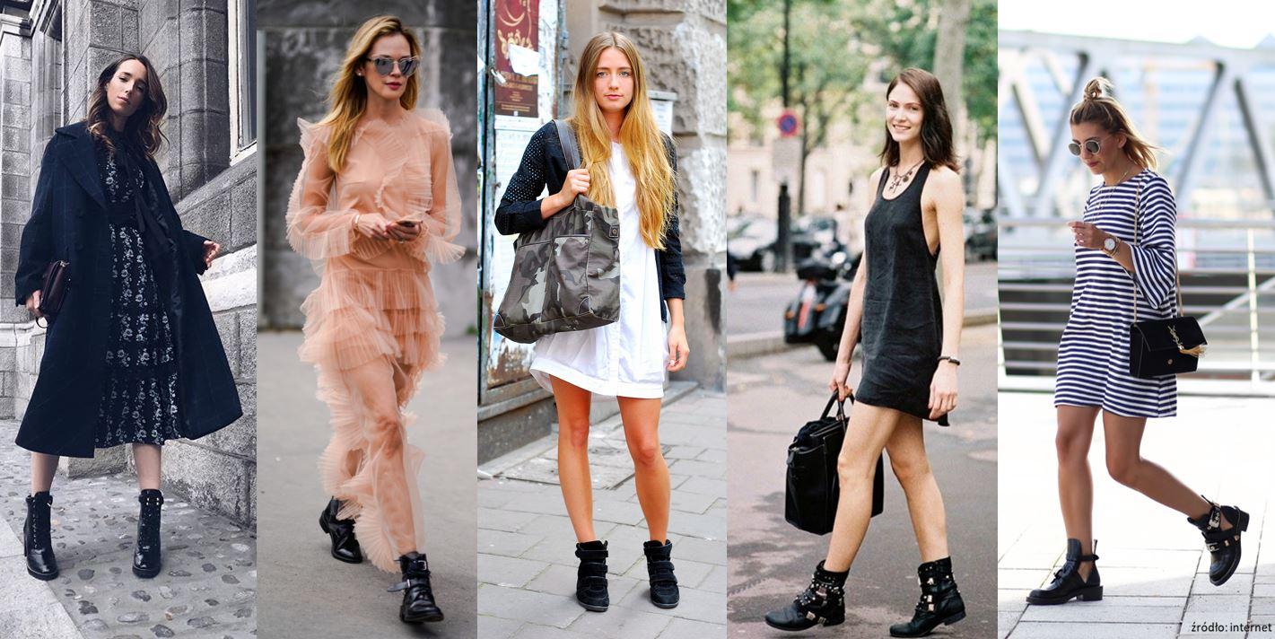 Sukienka i ciężkie buty