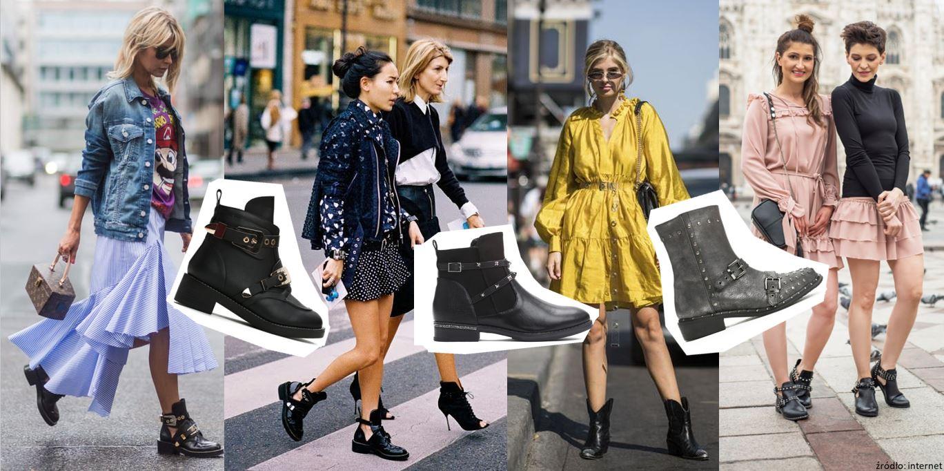 Sukienka i ciężkie buty - trend street style'u 2018!