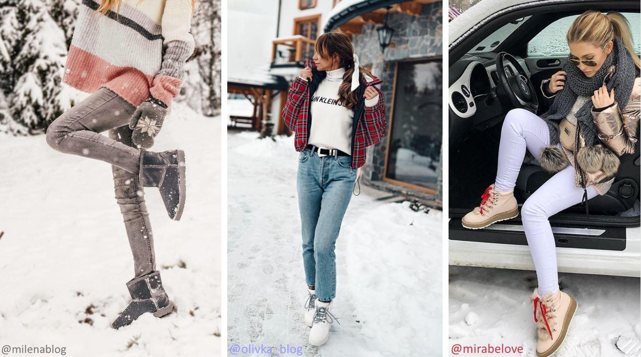 Modne śniegowce i traperki na ferie zimowe 2019