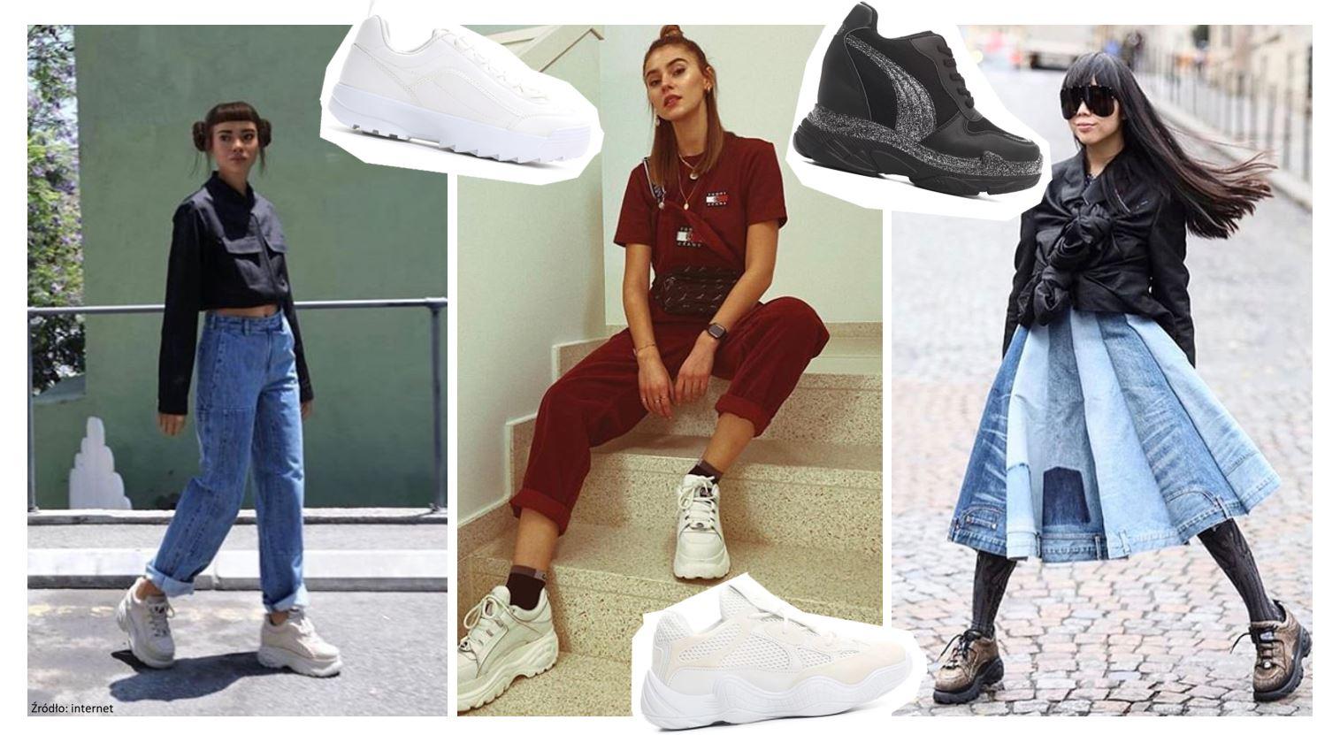 Buty z wysoką podeszwą