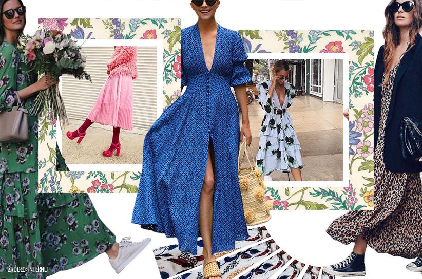 Maxi sukienki stylizacje