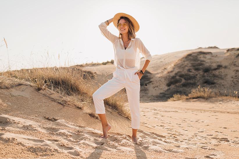 Z czym nosić białe spodnie?