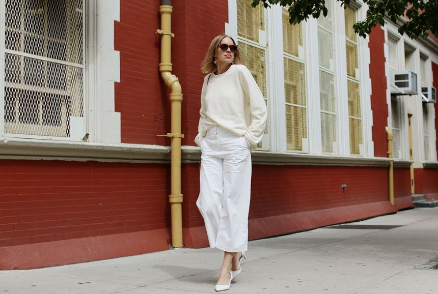 Do czego nosić białe spodnie?
