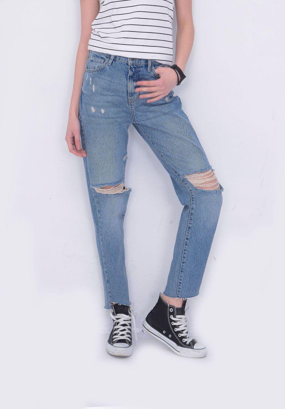 buty za kostkę damskie i spodnie