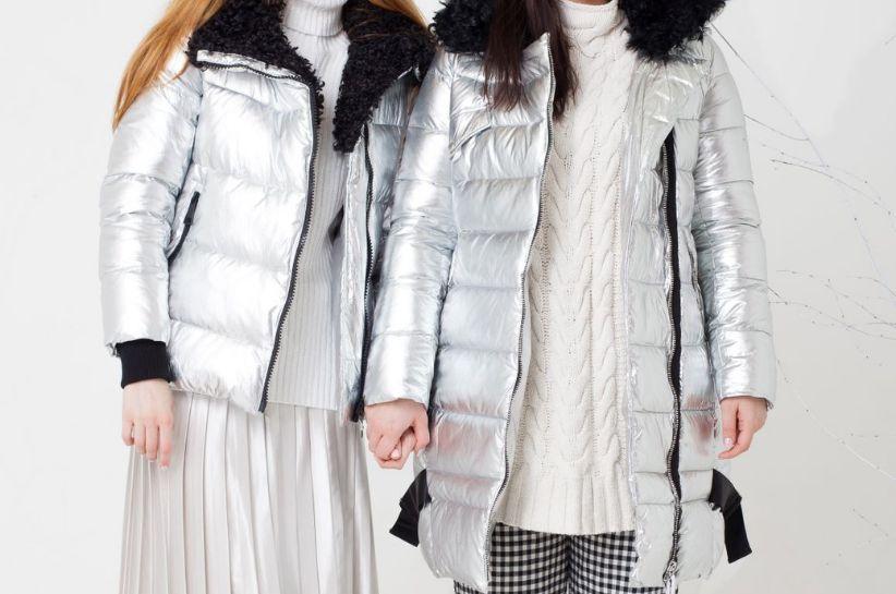 jak nosić srebrną kurtkę