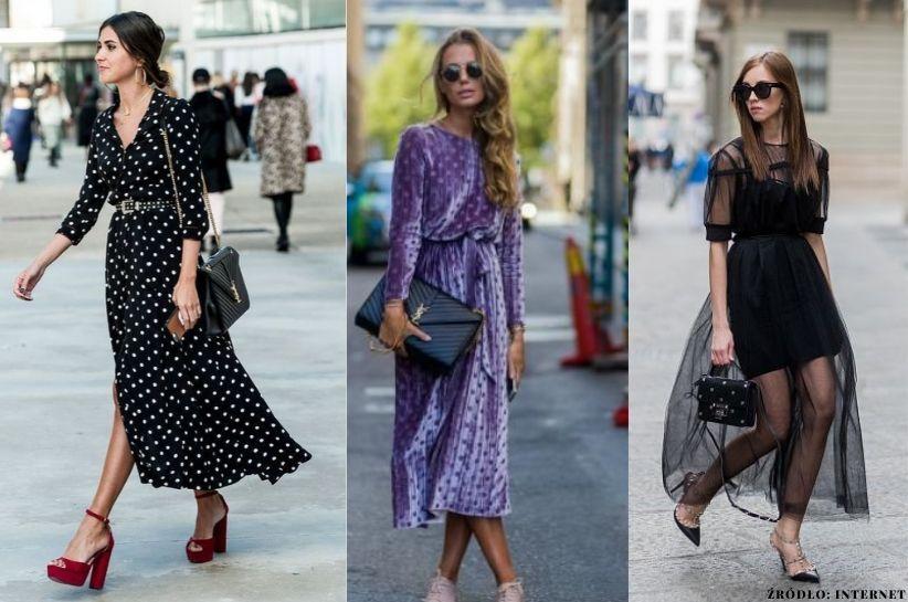 jak nosić sukienkę midi jesienią