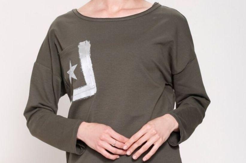 damska bluzka w kolorze khaki
