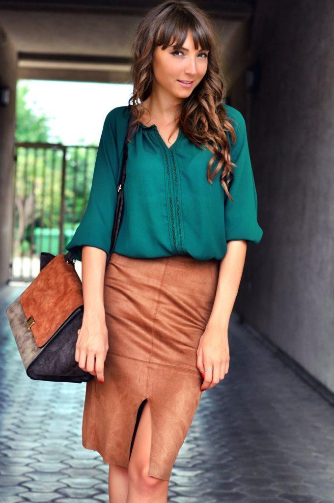 Zielona bluzka damska