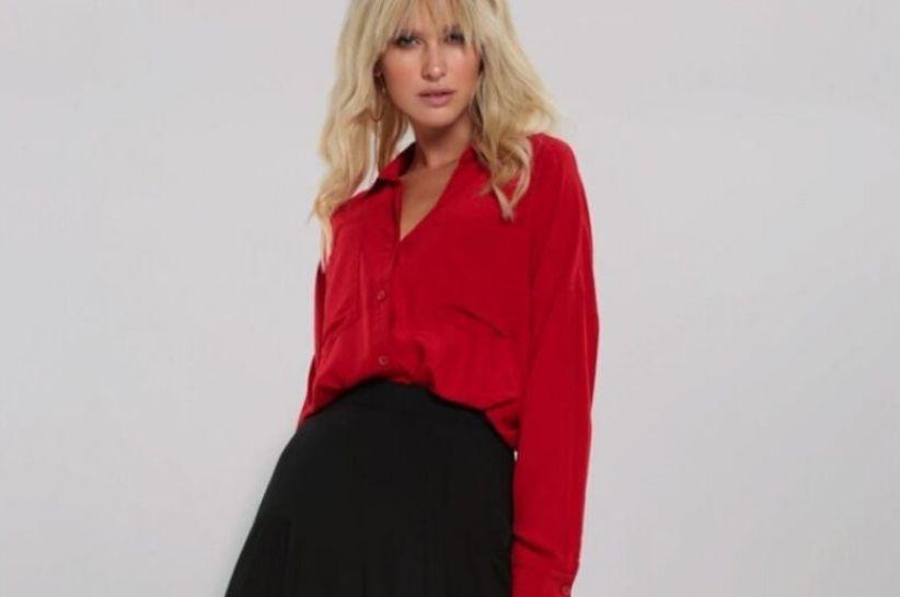 koszula damska czerwona