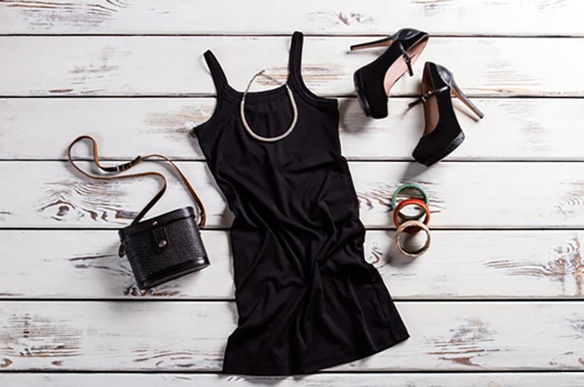 czarna sukienka damska