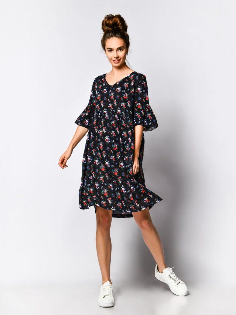 Trapezowa sukienka damska - stylizacje