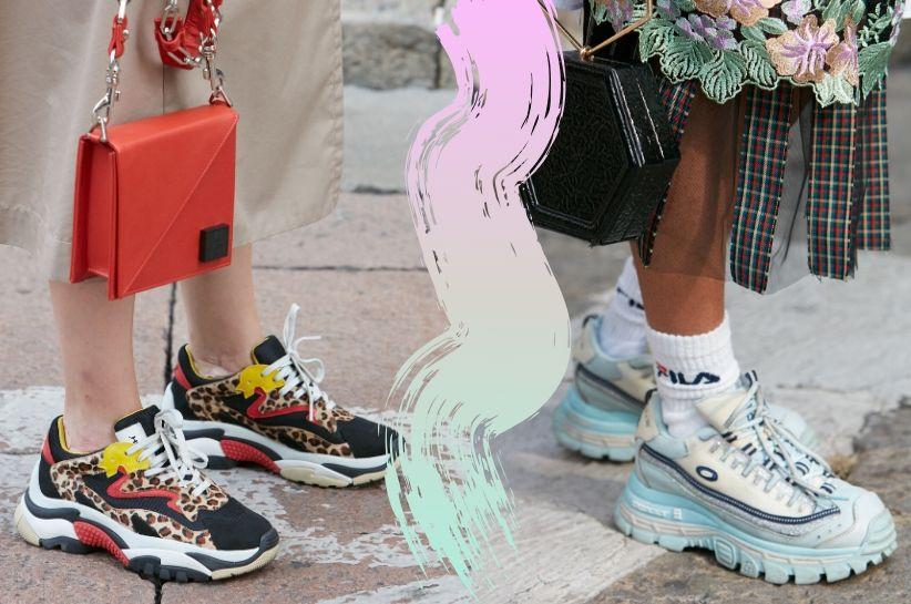 jak nosić kolorowe sneakersy