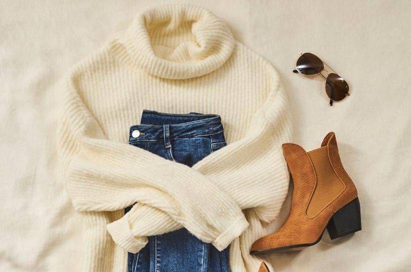 biały sweter stylizacje