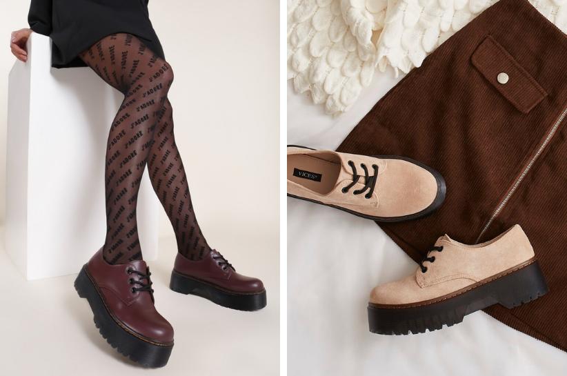 oksfordki do sukienki i spódnicy - stylizacje
