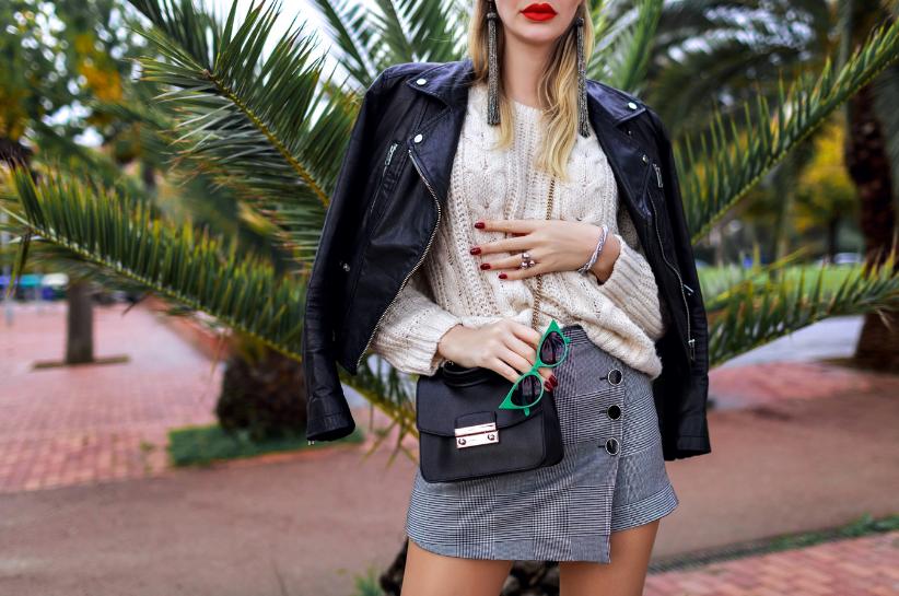 spódnica i sweter stylizacje