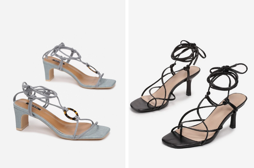 wiązane sandały stylizacje