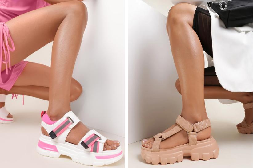 sportowe sandały damskie stylizacje
