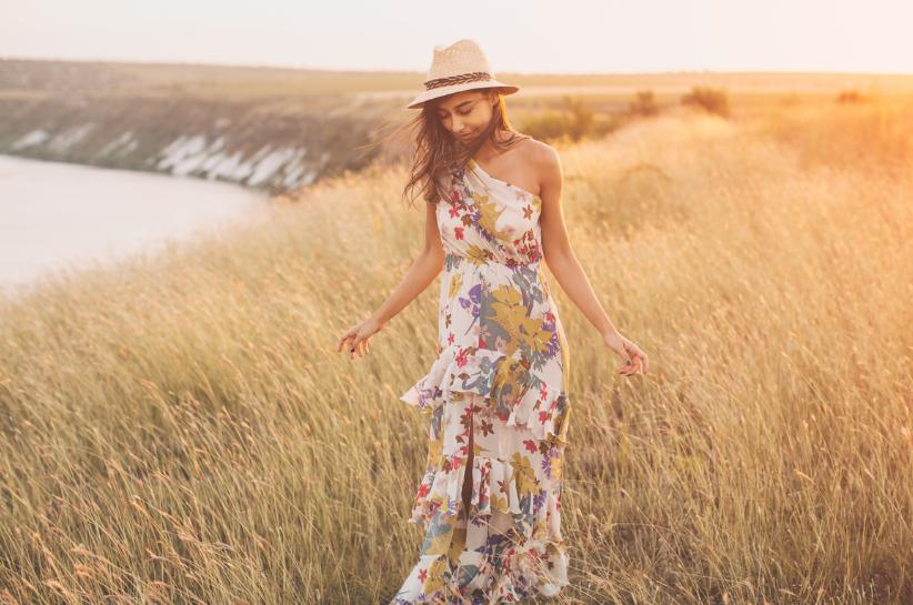 letnia sukienka maxi stylizacje