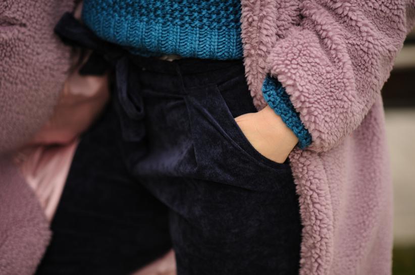 spodnie sztruksowe damskie